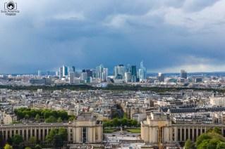vista desde a Torre na viagem para Paris