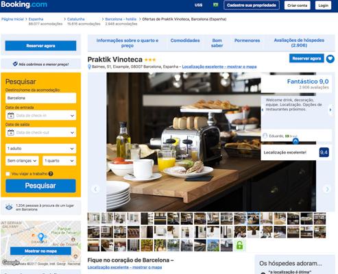 Link do Hotel Praktik em como reservar o hotel