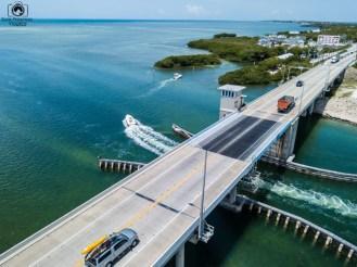 Ponte Elevadiça na US1 a caminho de Key West