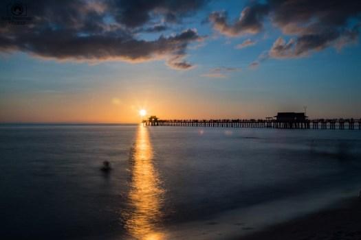 Pôr do Sol no Pier na Paradise Coast Flórida