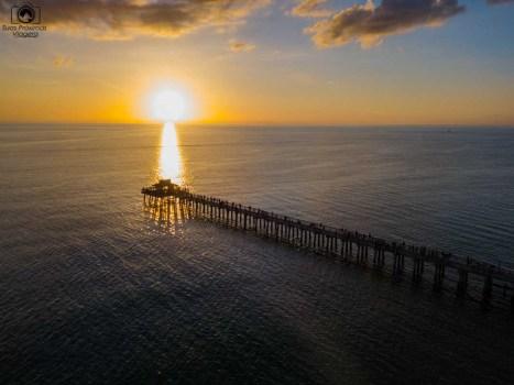 Pôr do Sol no Pier na Paradise Coast visto de cima