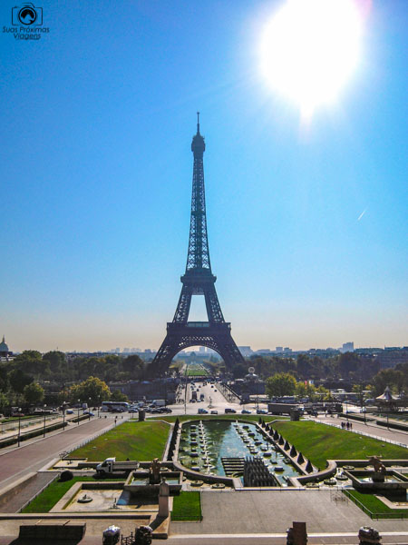 A Torre vista desde o Trocadéro em O que fazer em Paris