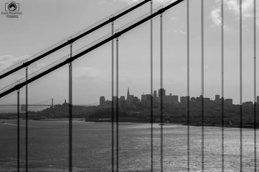 O que fazer em San Francisco visto através da Golden Gate em o que fazer em San Francisco
