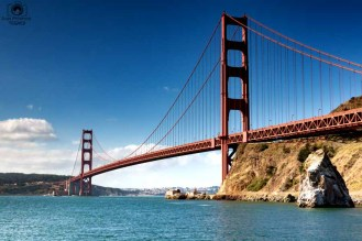 Golden Gate - Vista Point em viagem para San Francisco califórnia