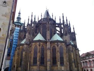 Fundo da Catedral em Praga