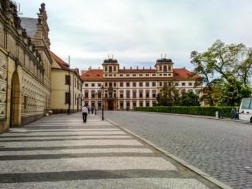 Rua do Castelo em Praga República Tcheca