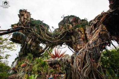 Ambiente da nova atração AVATAR nos parques da Disney