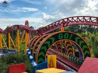 Montanha Russa da Toy Story Land nos parques da disney orlando