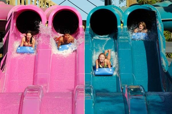 Tobogã com água - Foto Provida por Adventure Island