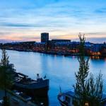 Pôr do Sol no Canal em Amsterdam