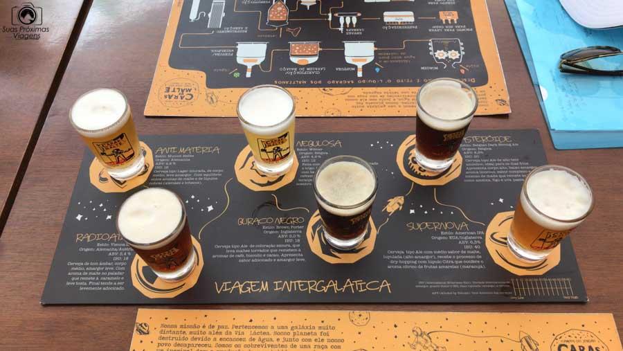 Imagem da Prova dos 6 sabores na Microcervejaria Caras de Malte em Campos do Jordão