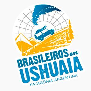Logo do Receptivo Brasileiros em Ushuaia apoiador da Expedição Cone Sul