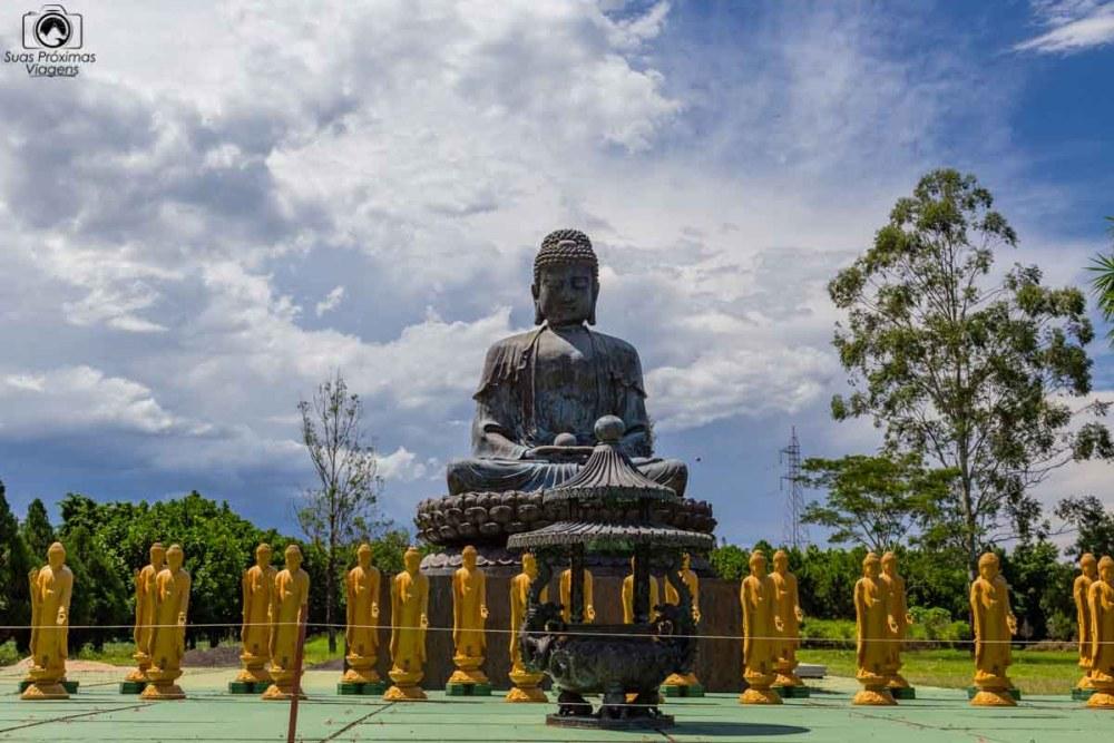Imagem do Buda no Templo Budista em Foz do Iguaçu