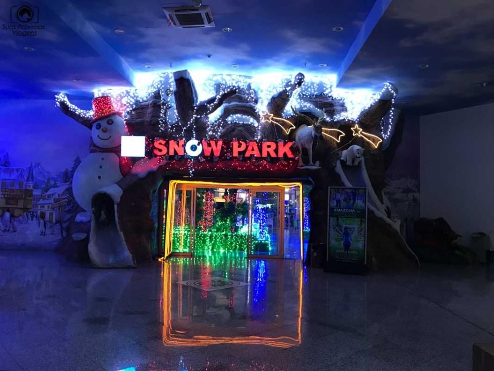 Vista do Snow Park, Shopping Paris, Compras no Paraguai