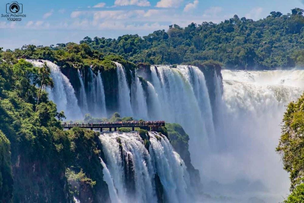 Vista das Cataratas do Iguaçu desde o lado Argentino indo para o Atacama de carro