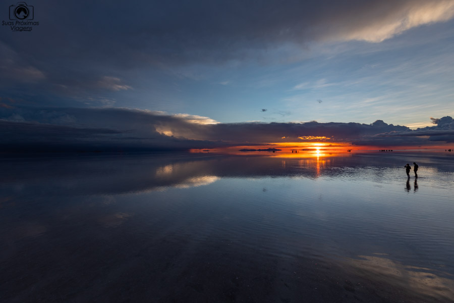 Imagem do Pôr do Sol no Salar de Uyuni