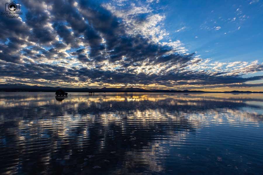 Imagem do Amanhecer no Salar de Uyuni Bolivia