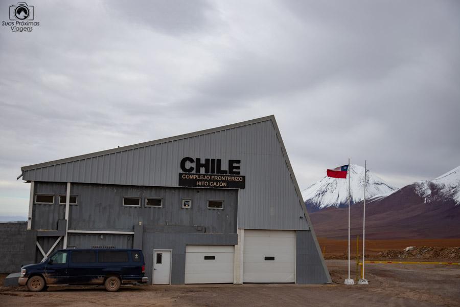 Imagem do complexo fronteiriço do Chile