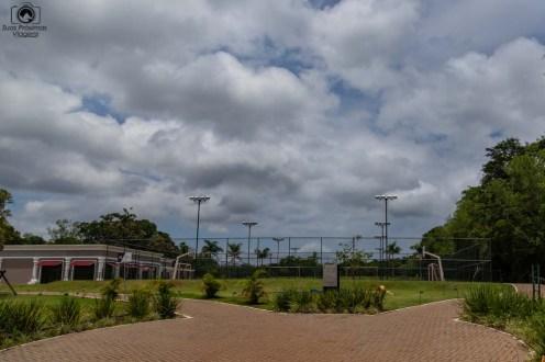 Foto das quadras poliesportivas do WIsh Foz do Iguaçu