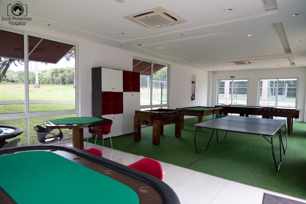 Foto da sala de jogos para adolescentes do wish foz do iguaçu