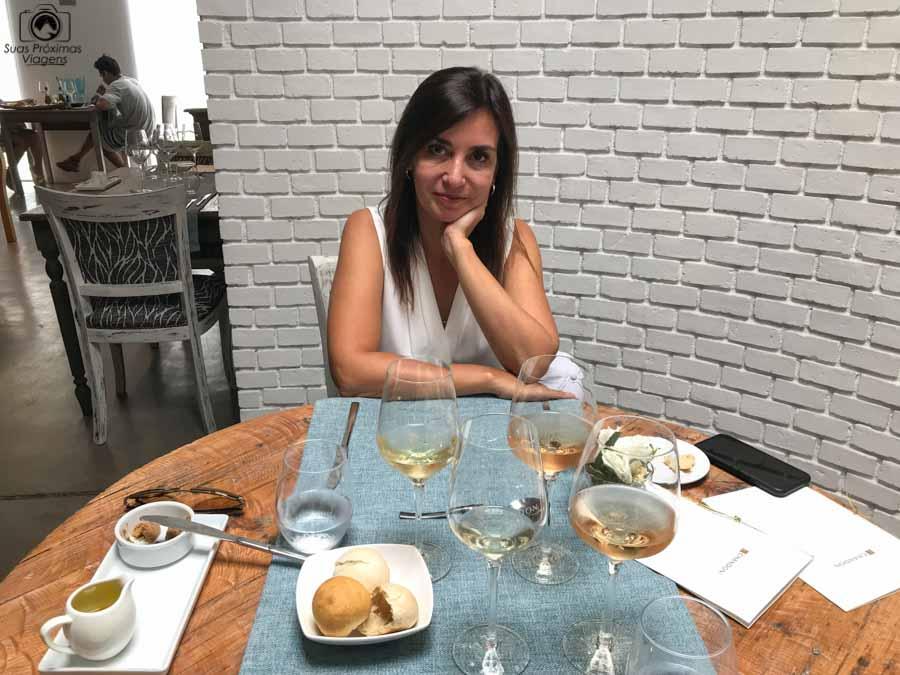 Imagem do almoço no bistro da Chandon em Mendoza