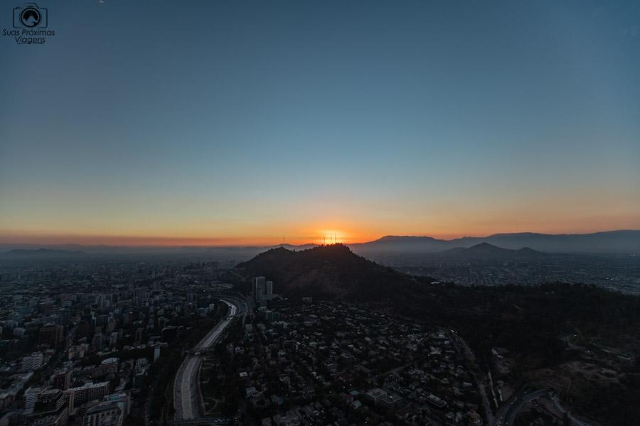 Imagem da Vista desde o Sky Costanera em Santiago do Chile