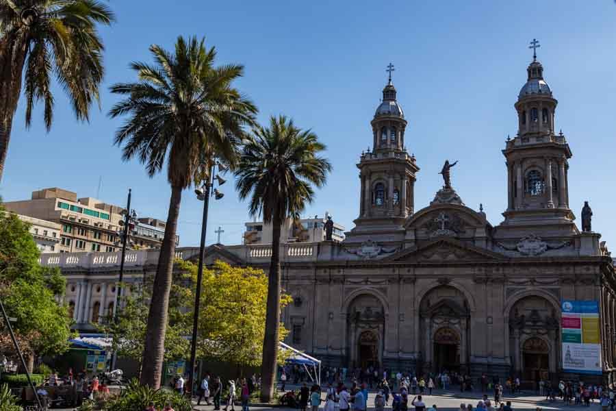 Imagem da Catedral Metropolitana em Santiago