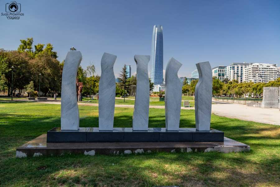 Imagem de Escultura no Parque de mesmo nome em Santiago do Chile