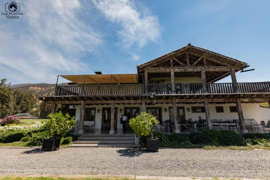 Imagem do restaurante da viña casa silva no vale de colchagua
