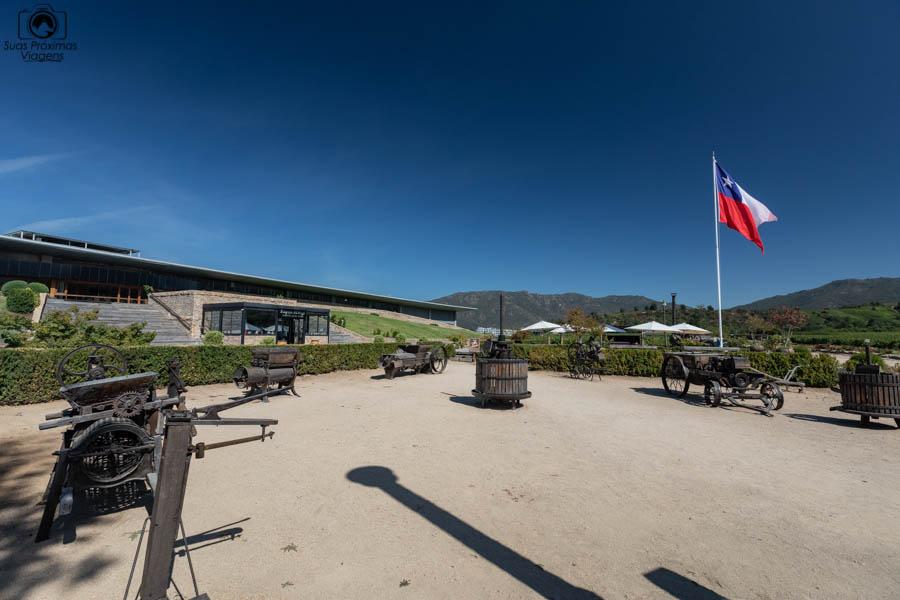 imagem da vinícola Montes no vale de colchagua