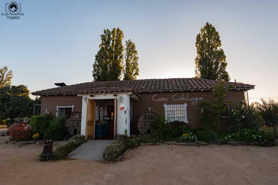 Imagem da fachada do restaurante Casa Colchagua