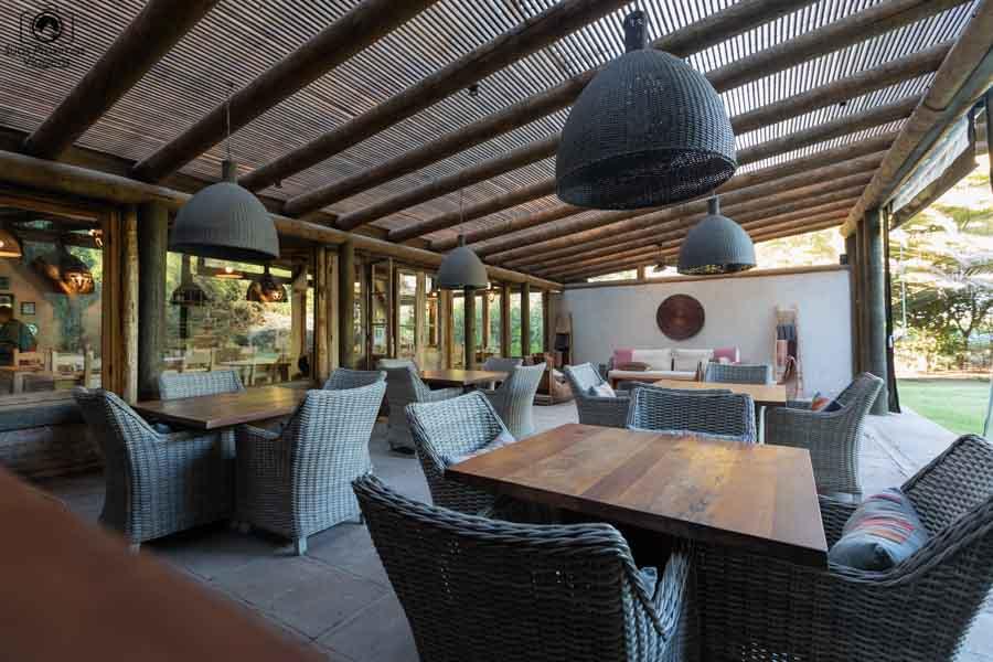 imagem da área de estar do hotel casa de campo no valle de colchagua