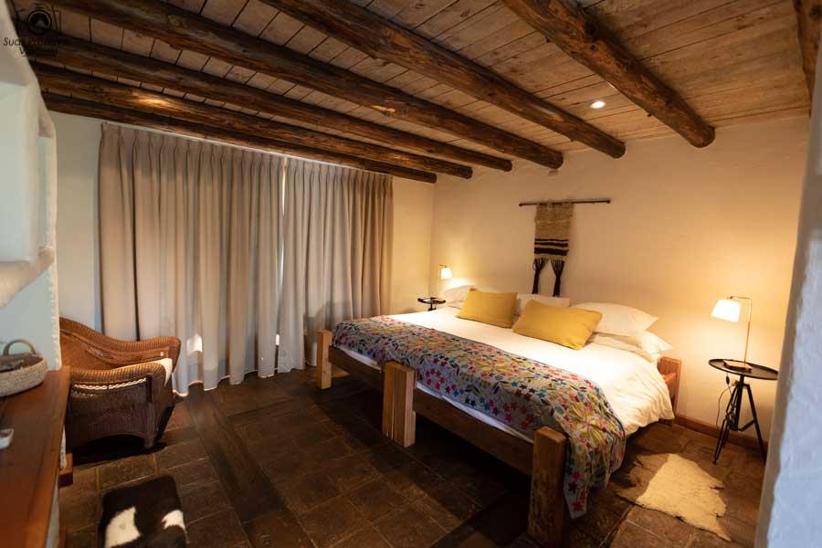 Imagem da suite do hotel casa de campo no valle de colchagua