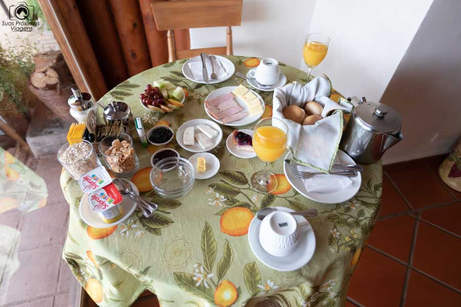 Imagem do café da manhã da Pousada Colchagua