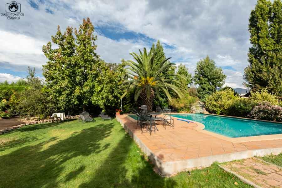 Imagem da piscina da Pousada Colchagua