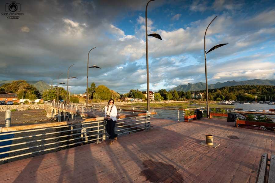 Imagem do deck em La Posa em Pucón