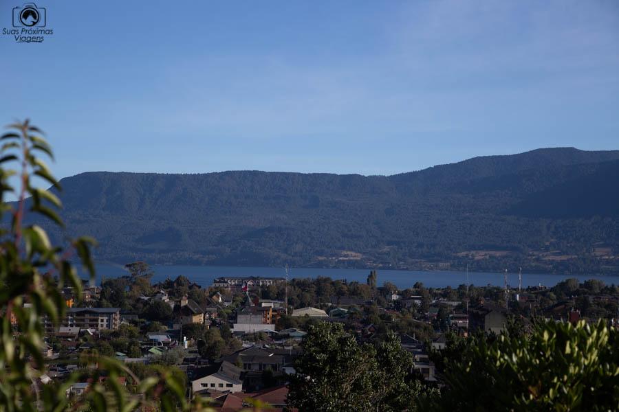 Vista de Pucón Chile desde o Monastério
