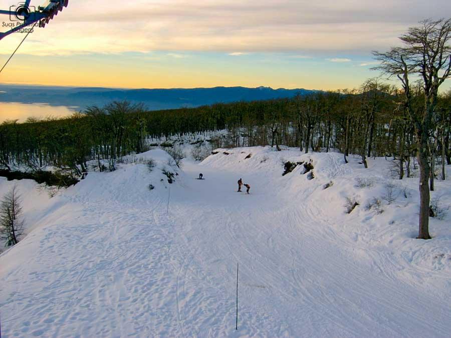 Imagem da Pista de Ski no Vulcão Villarica em o que fazer em Pucón no Inverno