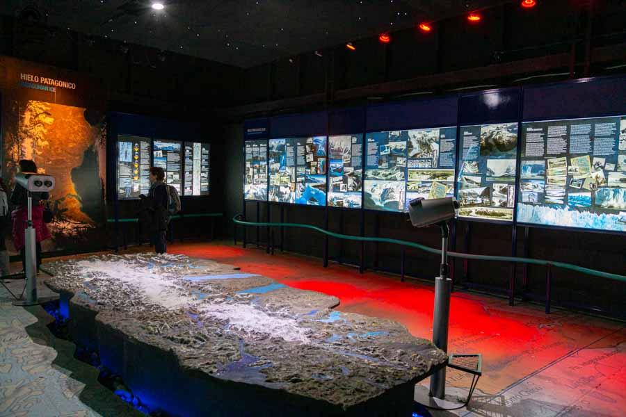 Imagem da Exposição dos Glaciares no Glaciarium