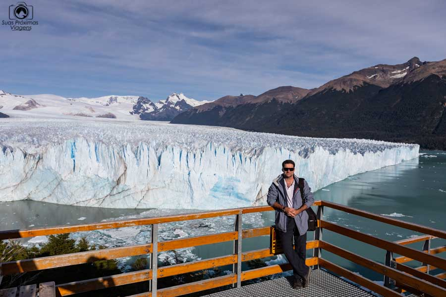 Imagem do Glaciar Perito Moreno desde um mirante