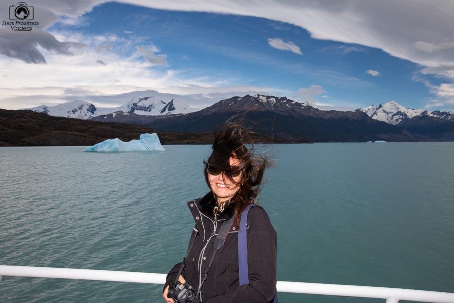 Imagem do vento durante a navegação do Glaciar Perito Moreno