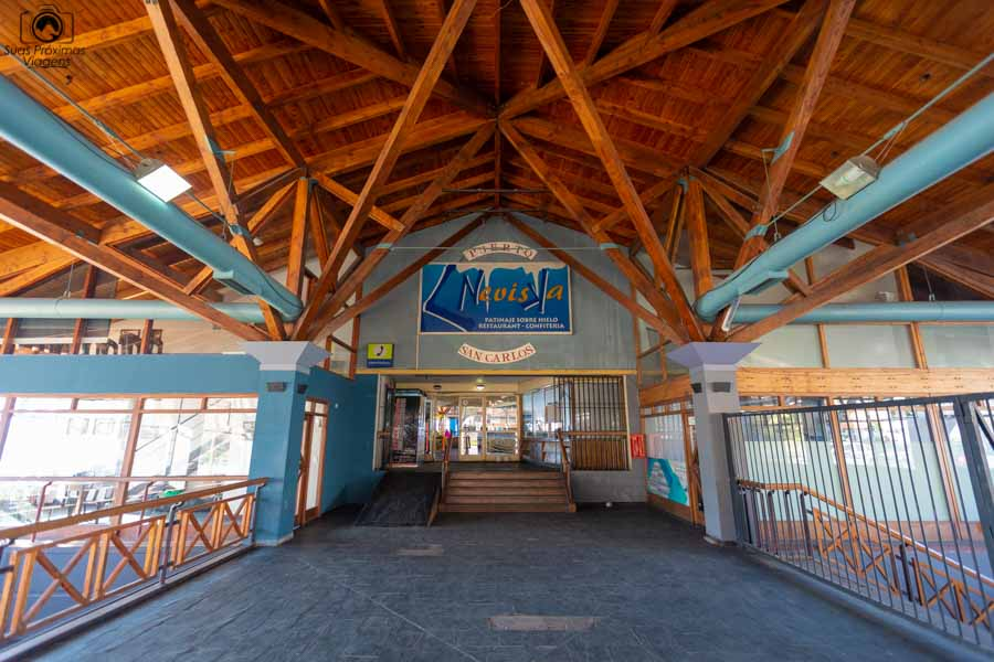 Imagem da entrada da pista de patinação em o que fazer em Bariloche
