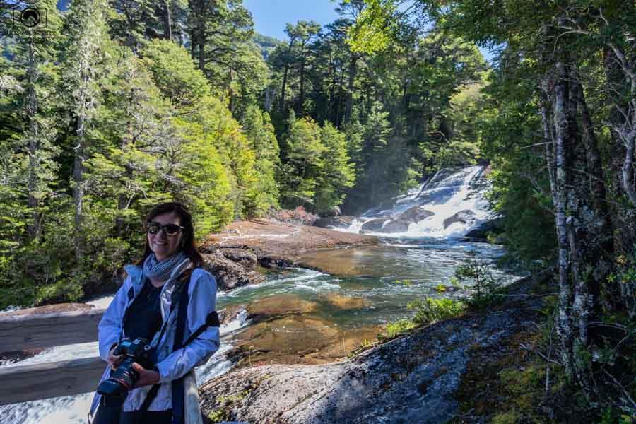 Imagem das quedas d'água da cachoeira dos cântaros em o que fazer em Bariloche