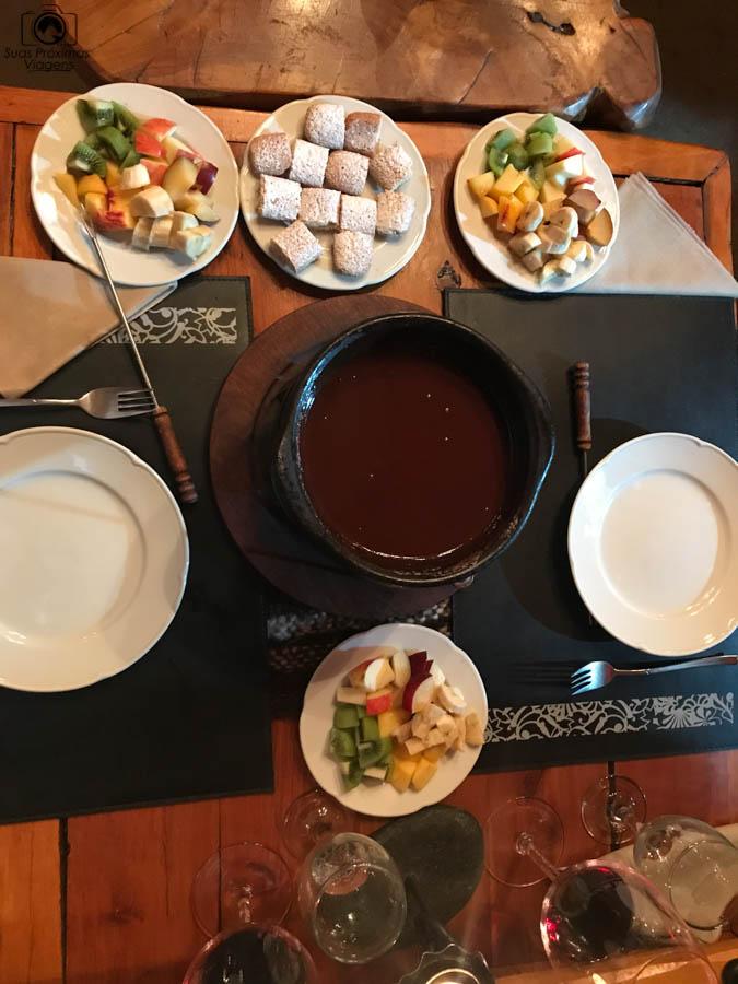 Imagem da sobremesa do Restaurante Rincón Patagônia em Bariloche