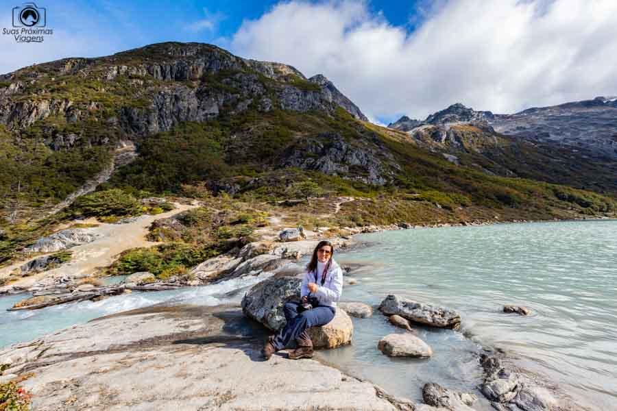 imagem da laguna esmeralda em o que fazer em Ushuaia