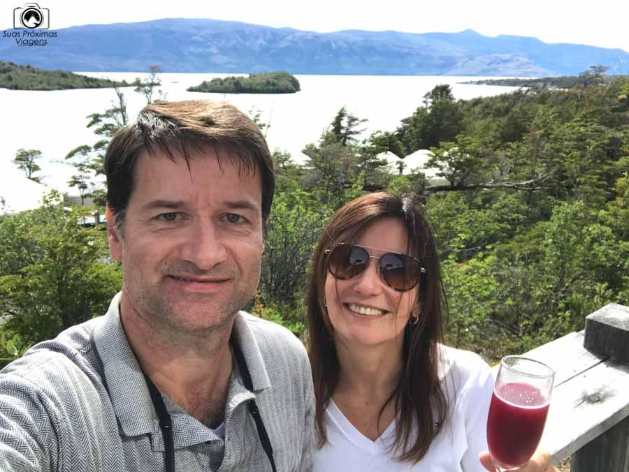 imagem desde a varanda do restaurante do Patagonia Camp