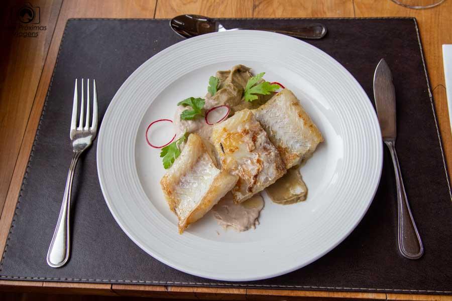 glamping: pratos servidos no restaurante