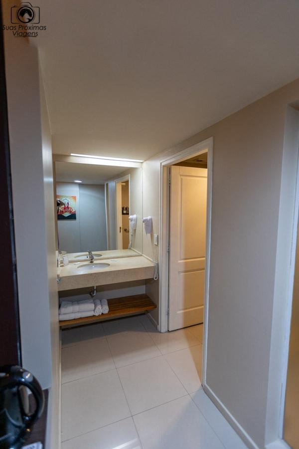 imagem do banheiro da suite do hotel Uno em onde ficar em Buenos Aires