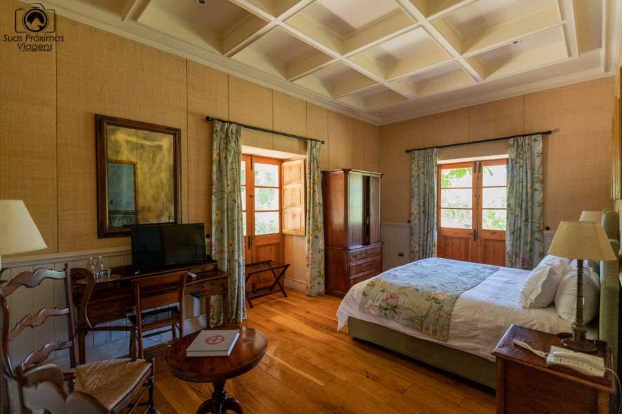 imagem da suite do hotel la Casona