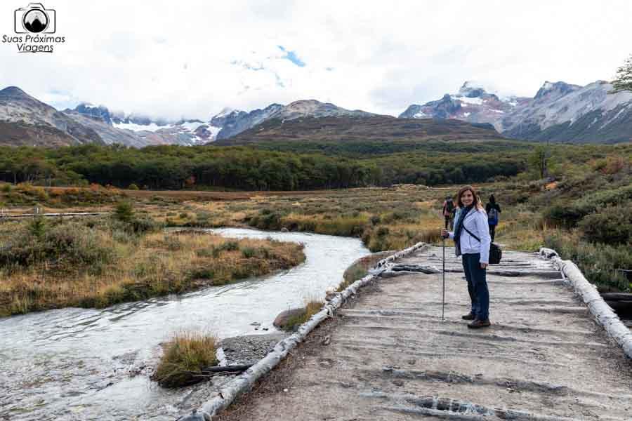 imagem do trekking laguna esmeralda em ushuaia